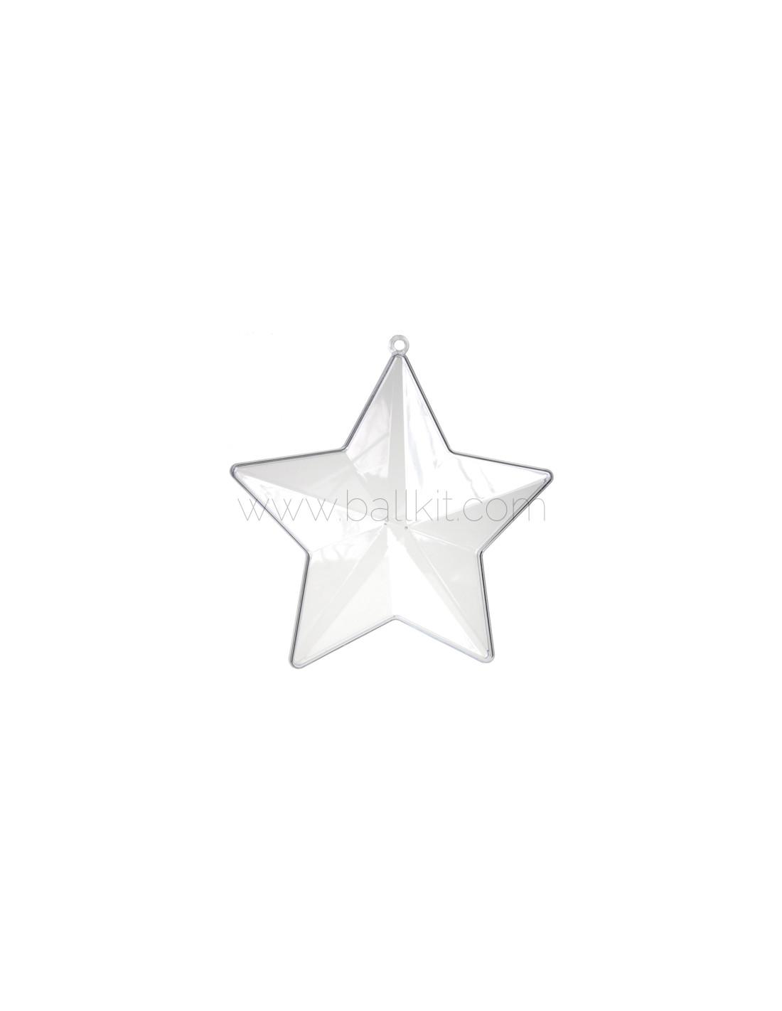 Acheter étoile Transparente En Plastique Acrylique Ballkit Diamètre 10 Cm Lot De 10