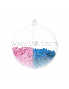Séparateur plastique pour boule plastique séparant du gravier coloré