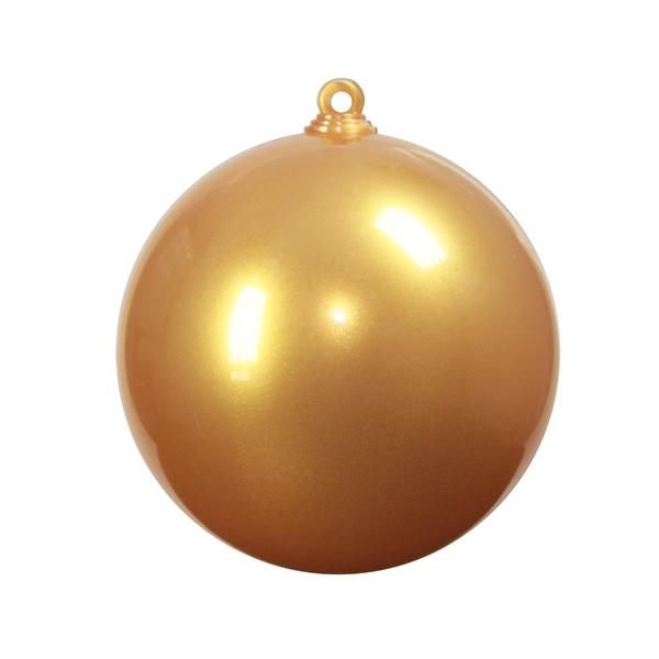 Boule plastique opaque nacrée or