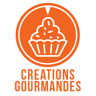 Icone thème création gourmande gâteau