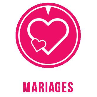 Icone coeur thème mariage
