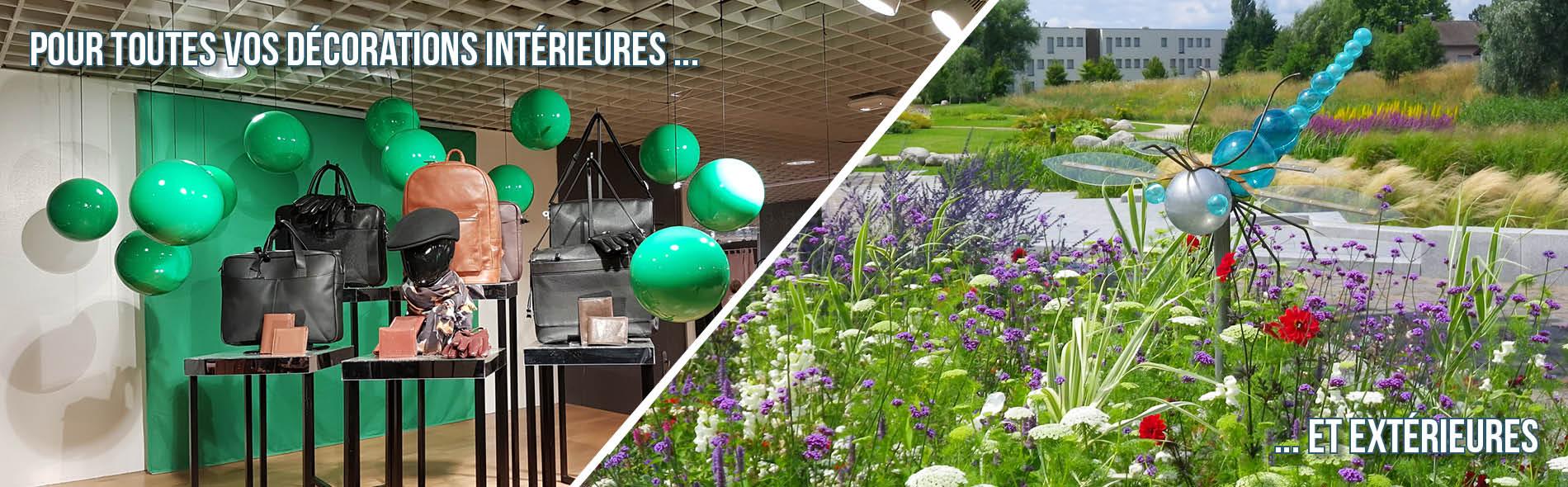 Boules plastiques pour décorations d'intérieures et d'extérieures