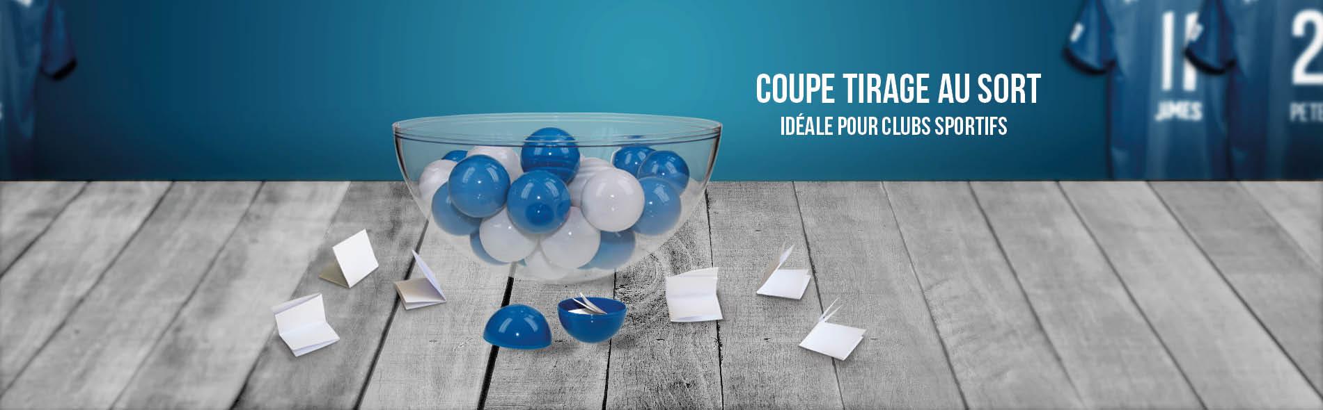 Vasque coupe plastique idéale pour tirage au sort et loterie